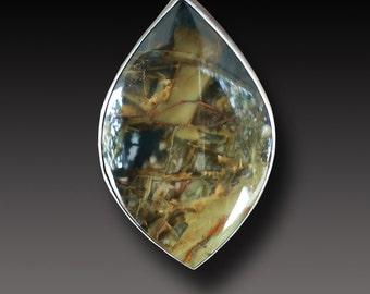 Morrisonite Jasper Ring Sterling Silver handmadet Ring