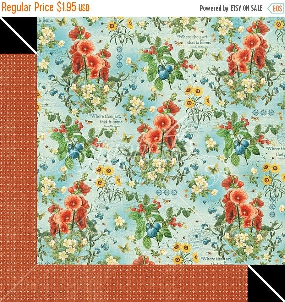 sale graphic 45 home sweet home garden fresh scrapbook paper 2 pcs