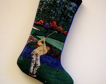 Golfer Christmas Stocking for Golf Lovers Handmade