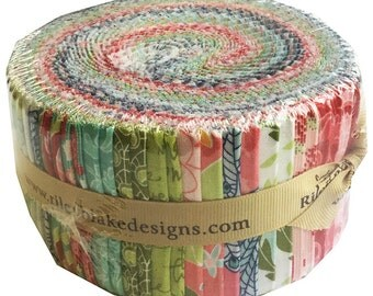 """SALE 30% Off Riley Blake Into The Garden Rolie Polie 2.5"""" Fabric Quilting Strips Jelly Roll rp-5590-40"""