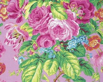 Philip Jacobs FLORAL DELIGHT Lavender PWPJ075 Fabric - Cuts by HALF Yard Increments