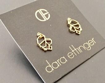 Dara Ettinger Gold Elephant Stud earrings