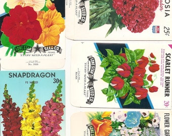28 different Old Vintage - Vegetable & Flower - SEED PACKETS  Lone Star Seed Co. San Antonio , Texas.