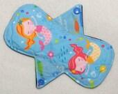 "7.25"" Regular - Mermaids - Reusable Cloth Menstrual Pad (7MC)"