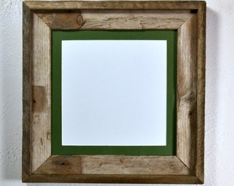 8x8 mat in 10x10 eco friendly reclaimed wood frame