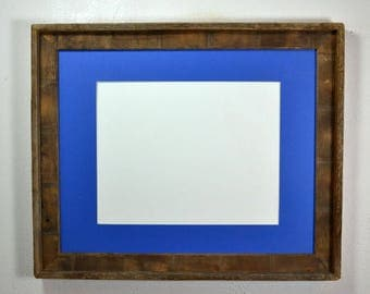 16x20 poster frame from reclaimed wood with mat 11x14 20 mat colors to choose from free