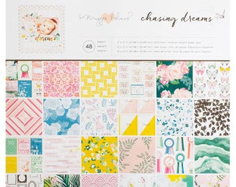 "Maggie Holmes Chasing Dreams Single-Sided Paper Pad 12""X12"" 48/Pkg (375969)"