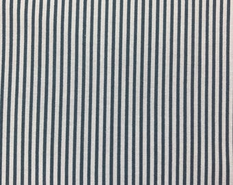 Dear Stella Dress Stripe Orion Blue Gray 100% Cotton Fabric