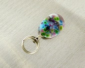 Magnetic ID Holder / Magnetic Eyeglass Holder Handmade with Lampwork Glass, SantaFeKiss