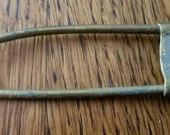 Very Large Old Brass Safety Pin