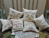 Decorative Mini Valentine's Pillow, Hearts, Sweetheart, Love, Cupid, Bowl Fillers, Happy Valentines Day