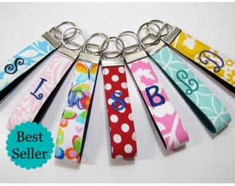 Monogram key chain,  Teacher Appreciation Gift, Key Chain, Personalized Keychain,  Bridesmaid Gift, Wristlet, Teacher gift, Christmas Gift