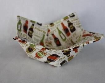 Reversible Quilted Microwave Bowl Cozy Pot Holder Bowl Holder Beer Bottles