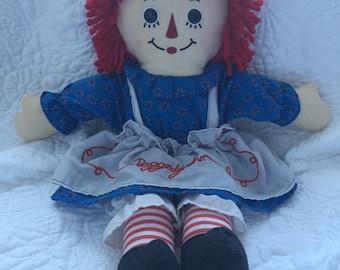 Vintage Raggedy Ann , rag doll, 18inch