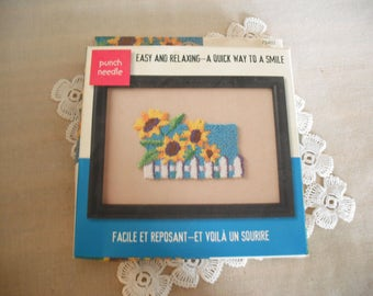 Needle Punch Kit- Sunflowers