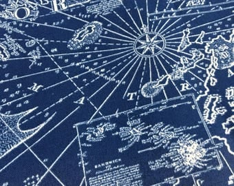 NEW Nautical Maps Earth Globe and World Map Bean Bag chair navy blue white indoor outdoor fabric made to order cover and liner WITHOUT FILL