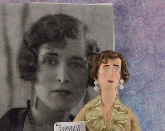Georgette Heyer- Author Doll-  Miniature Art- British Writers-Historical Romance
