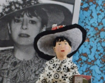 Dorothy Parker Writer Doll Miniature Satire Author and Writer Classic Literature