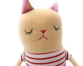 "Cat Sleepy Kitty in Pajamas ""Billy"" Cotton Monster Plush"