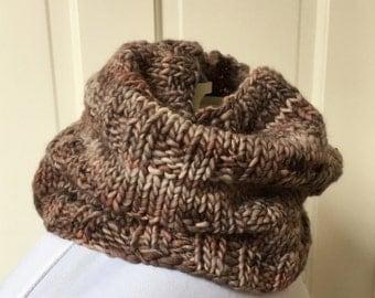 Chocolate Wool Cowl