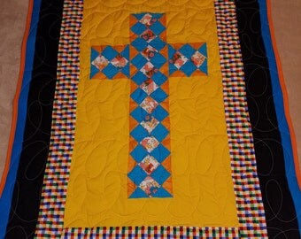 Cross Lap Quilt or Wall Hanging