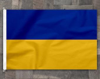 100% Cotton, Stitched Design, Flag of Ukraine, Made in USA
