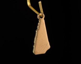 Raw Brass Tiny New Hampshire Blank State Charm Drops 15x6mm (6) chr228MM