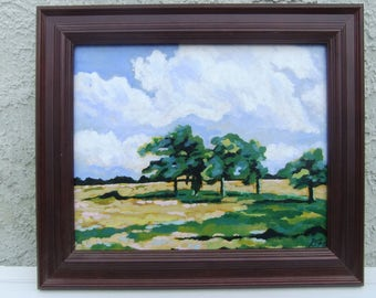 Windy Day, Ohio Countryside. March 2017. Original Acrylic landscape Painting
