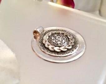 Silver Shield - Fine Silver Pendant