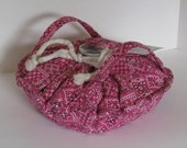 Casserole Carrier , Round or Square Dish , Pink Bandana, Food Carrier , Insulated , Hot or Cold Foods , Bridal Gift