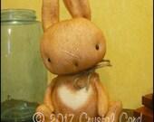 Whimsical Brown rabbit bunny doll spring easter decor primitive decor animal farm kitchen Doll creepy cute country decor HaFair Faap