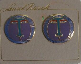 Laurel Burch earrings . earrings for pierced ears . Laurel Burch . Moon tiger . laurel burch moon tiger earrings
