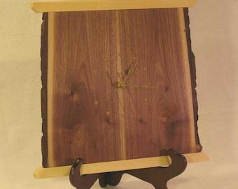 Rustic Walnut Wall Clock