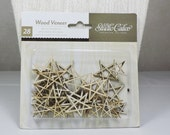 Die Cut Wood Veneer Stars Made by Studio Calico 28 pieces