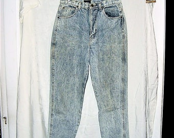 Vintage 80s Stone Wash Ladies Jeans 14 Reg Chic High Waist