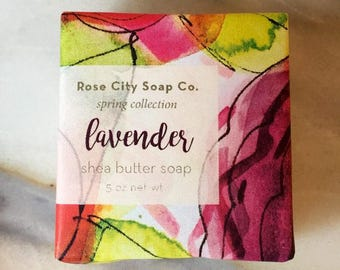 Lavender Shea Butter Soap | Spring Soap Collection | Soaps For Men and Women