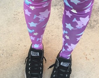 Starry Dino Melty Tights, Fairy Kei Tights, Fairykei Tights, cute tights, kawaii tights
