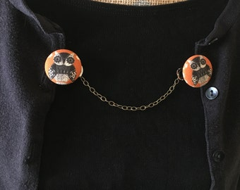 orange owl sweater clip