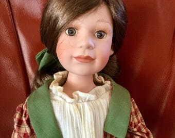Vintage Yesterdays Child Boyds Schoolgirl with Stand 14 Inches Tall,  Excellent Condition, Collectors Item