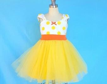 1st birthday baby outfit for girls, Easter dress, girls dress, Yellow polka dot dress, birthday Dress, flower girl dress, yellow tutu dress