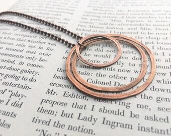 Antiqued Circles Necklace