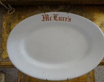 Vintage Shabby Ironstone Logo Platter