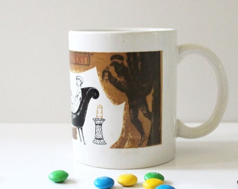 Edward Gorey 1970s PBS Mystery Theater mug.