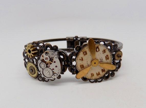 Steampunk cuff bracelet. by slotzkin steampunk buy now online