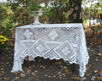 Unique Lace Tablecloth Related Items Etsy