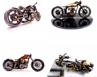 Custom One of a Kind Motorcycle Sculpture