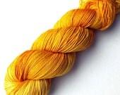SALE Sock Yarn Stella Handdyed Superwash Merino Marigold