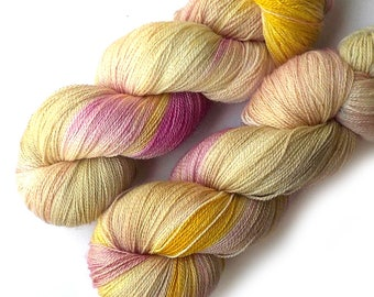 NEW Mulberry Silk and Merino Lace Yarn, 866 yards, Tulip