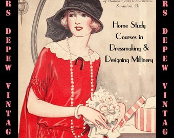 1920's Vintage Home Study Courses By The Woman's Institute and Mary Brooks Picken - E-book PDF