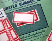"Vintage Dennison Gummed Labels, Set of 30, No. 219, 3/4"" x 1 7/8"""